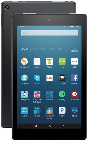 fire hd 8 - best tablets for seniors and elderly