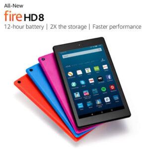 fire hd 8 tablet - best cyber monday tablet deals