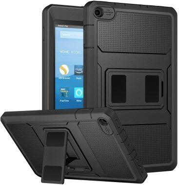 moko heavy duty rugged case for fire hd 8 - best cases for fire hd 8